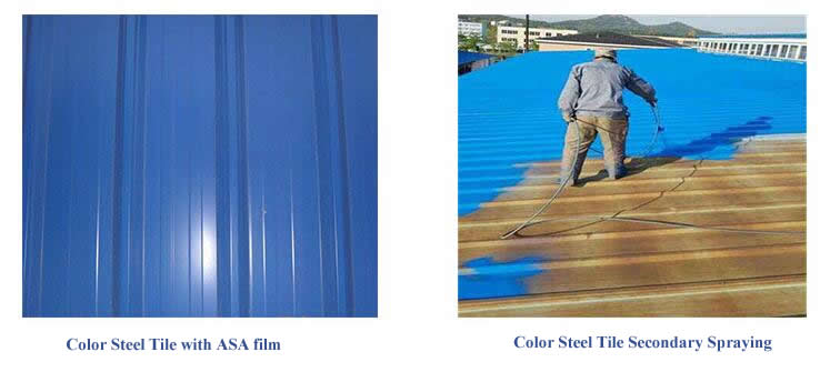 ASA film in color steel tile
